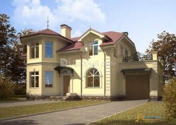 Дом 15.14 м × 11.7 м c мансардной крышей