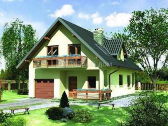 Дом 12.7 м × 8.1 м c двускатной крышей