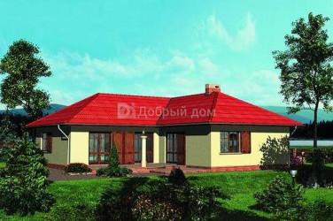 Дом 14.8 м × 13.9 м c четырехскатной крышей