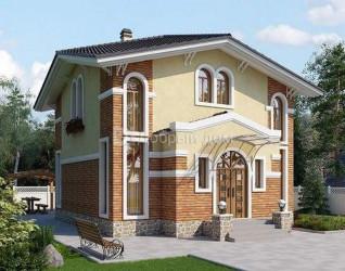 Дом 10.8 м × 8.4 м c четырехскатной крышей