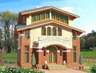 Дом 11.65 м × 9.4 м c четырехскатной крышей