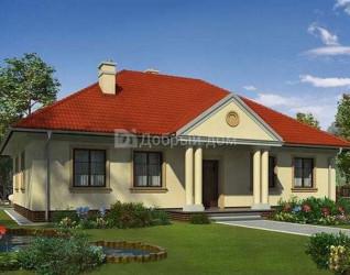 Дом 14.9 м × 10.4 м c четырехскатной крышей