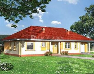 Дом 18.3 м × 9.4 м c четырехскатной крышей