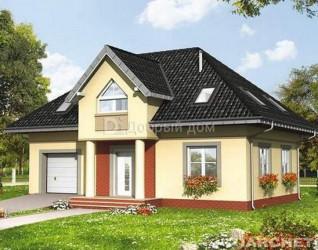 Дом 12.2 м × 8.3 м c мансардной крышей