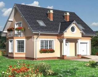 Дом 12.3 м × 9.2 м c двускатной крышей