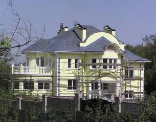 Дом 20.08 м × 14.6 м c мансардной крышей