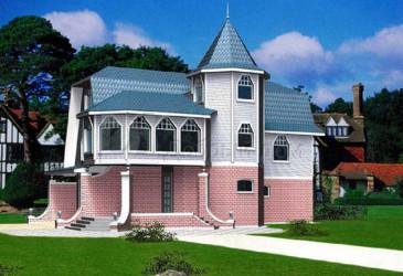 Дом 13.5 м × 6.7 м c мансардной крышей