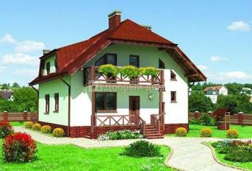 Дом 10.3 м × 10 м c мансардной крышей