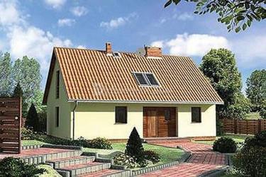 Дом 11.5 м × 7.9 м c двускатной крышей