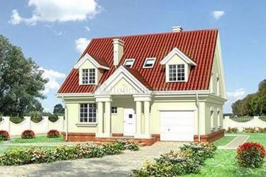 Дом 10.3 м × 10.3 м c мансардной крышей